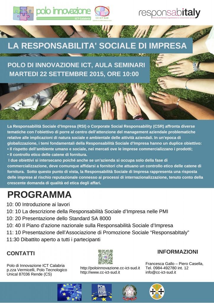 LA RESPONSABILITA' SOCIALE D'IMPRESA