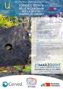 Scienze e Tecnica delle Blockchain per la Digital Sharing Economy - 23 Marzo - UNICAL